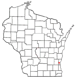 Location of Cedarburg (town), Wisconsin