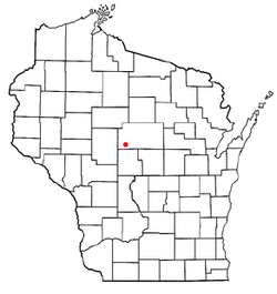 Location of McMillan, Wisconsin