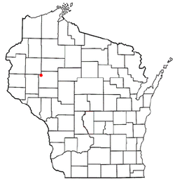 Location of New Auburn, Wisconsin