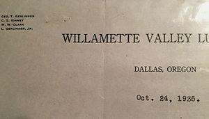 Willamette Industries - Image: WVLC letterhead