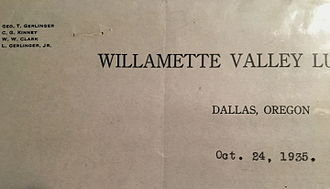 Willamette Industries - Image: WVLC letterhead