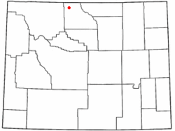 Location of Lovell, Wyoming