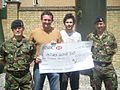 Waldstock reps present cheque to soldiers of Carver Barracks 2010.jpg
