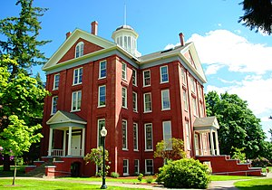Willamette University - Waller Hall, completed in 1867 is the oldest building on campus