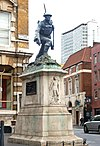 War memorial on Borough High Street, south London - geograph.org.uk - 1522091.jpg