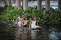 Warao on curiara (canoe) - Waraos en curiara.JPG
