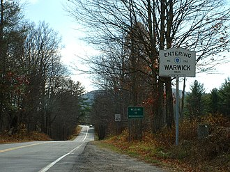Warwick, Massachusetts - Entering Warwick from Winchester, NH, along Route 78