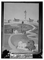 Wash drawing of Temple area, mosque grounds in Jerusalem LOC matpc.08619.jpg