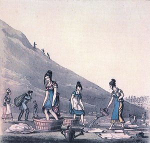 Calton Hill - Washerwomen on the Calton Hill, 1825
