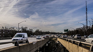 Interstate 495 (Capital Beltway) - I-495/I-95 Northbound in Maryland, at the Rhode Island Ave. overpass