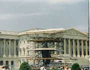 The Statue of Freedom was removed from the dome for five months in 1993.