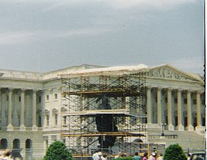 Statue of Freedom - The Statue of Freedom was removed from the dome for five months in 1993.
