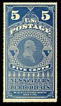Washington Newspaper-Periodical stamp, 5c, 1865 issue.JPG