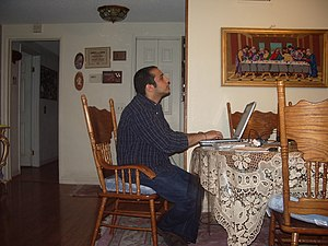 Watching and blogging on election night, November 2004