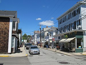 Stonington, Connecticut - Image: Water Street at Church Street, Stonington, CT