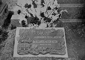 Alexander Watson Hutton - Watson Hutton graveyard at Cementerio Británico of Buenos Aires.