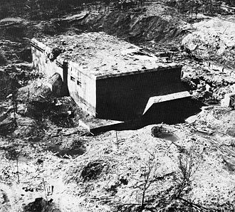 Blockhaus d'Éperlecques - Aerial view of the bunker, 1944 or 1945