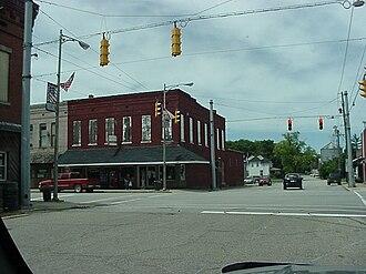 Waynetown, Indiana - Image: Waynetown intesection