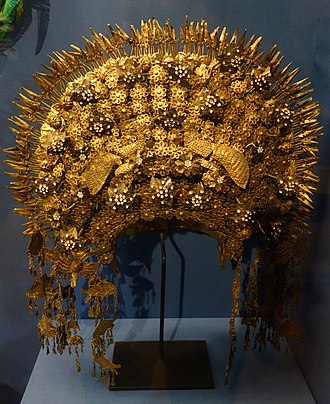 Suntiang - A Suntiang crown, mid-20th century (Fernbank Museum of Natural History)