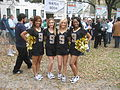 Wednesday at Square NOLA Mch 2010 cheerleaders 9999.JPG