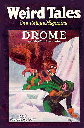 Drome (novel) - Image: Weird Tales January 1927