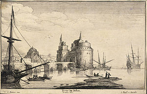 Wenceslas Hollar - Tyre near Sidon (State 1)