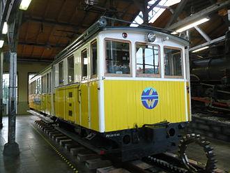 Wendelstein Rack Railway - Loco No. 1 with trailer car 3 in Lokwelt Freilassing