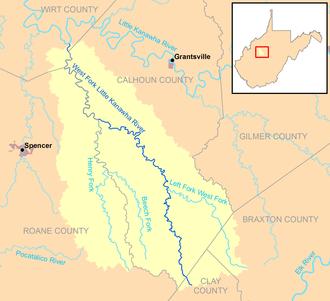 West Fork Little Kanawha River - Image: West Fork Little Kanawha River map