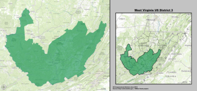 West Virginia's 3rd congressional district - since January 3, 2013.