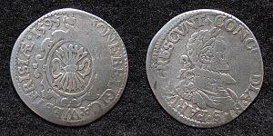 1/20e de Stoter de Leicester, 1595, République  du West-Friesland (1581-1795) ... 300px-Westfriesland_stoter_1595