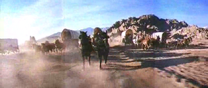 The wagon train is attacked by Cheyenne Indians.