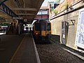 Weybridge station bay look west with unit 450564.JPG