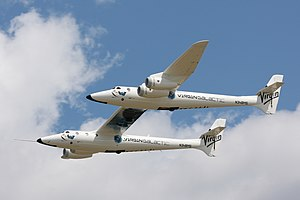 Scaled Composites White Knight Two - Image: White Knight Two flying