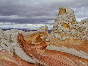 Vermilion Cliffs National Monument - Rock formations in the White Pocket, in a remote area of the Monument
