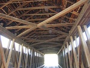Brown truss - Image: Whites Bridge Flat River Interior Truss Detail DSCN9947