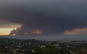Topanga Fire - View of the wildfire from the top of the Topanga Canyon.