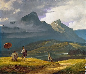 Wilhelm Bendz -   Mountain landscape.