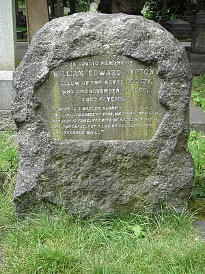 William Edward Ayrton - Funerary monument, Brompton Cemetery, London