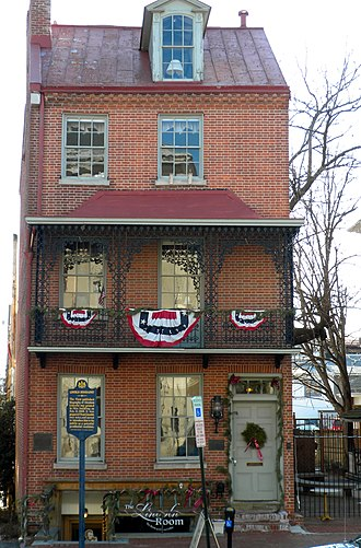History of West Chester, Pennsylvania - The first biography of Abraham Lincoln was written in this building.