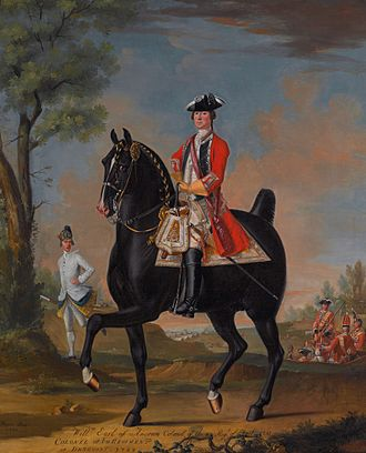 William Kerr, 4th Marquess of Lothian - William Kerr, 4th Marquess of Lothian on a charger (David Morier, 1751)