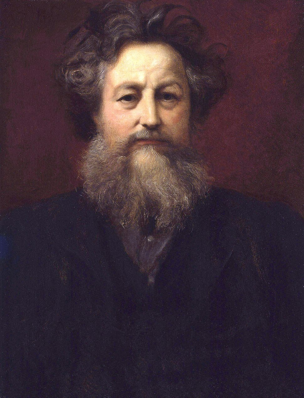 William Morris by Sir William Blake Richmond retouched