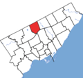 Willowdale in relation to the other Toronto ridings (2015 boundaries).png