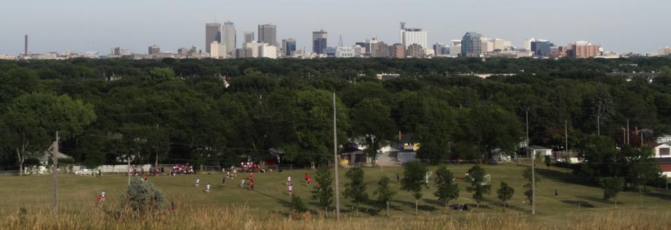 Winnipeg skyline as of June 2014