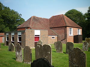 Bethel Strict Baptist Chapel, Wivelsfield - A graveyard surrounds the chapel.