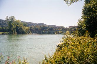 Frauenkappelen - Kappelen Bridge, looking from Wohlen toward Frauenkappelen