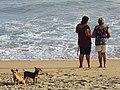 Women on Beach with Dogs - Zipolite - Oaxaca - Mexico (15433593607).jpg