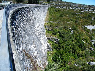 Woodhead Dam dam in Table Mountain, Western Cape, South Africa