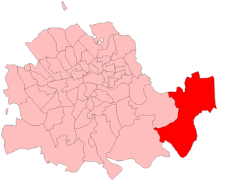 Woolwich (UK Parliament constituency) - Woolwich in the Metropolitan Board of Works area, showing boundaries used from 1885 to 1918.