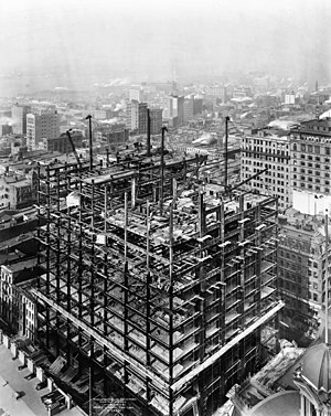 Woolworth Building - Under construction