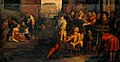 Works of mercy. Oil painting by a painter associated with Fr Wellcome V0017626.jpg